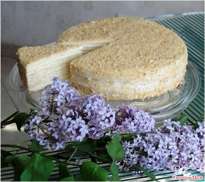 Торт сметанный классический рецепт пошагово в домашних