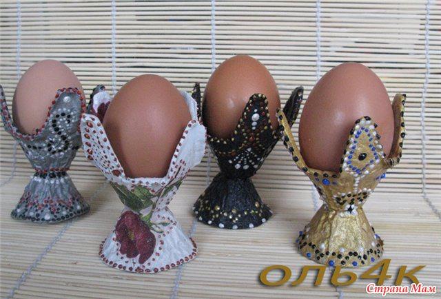 Как сделать подставку для яиц из коробки из под яиц