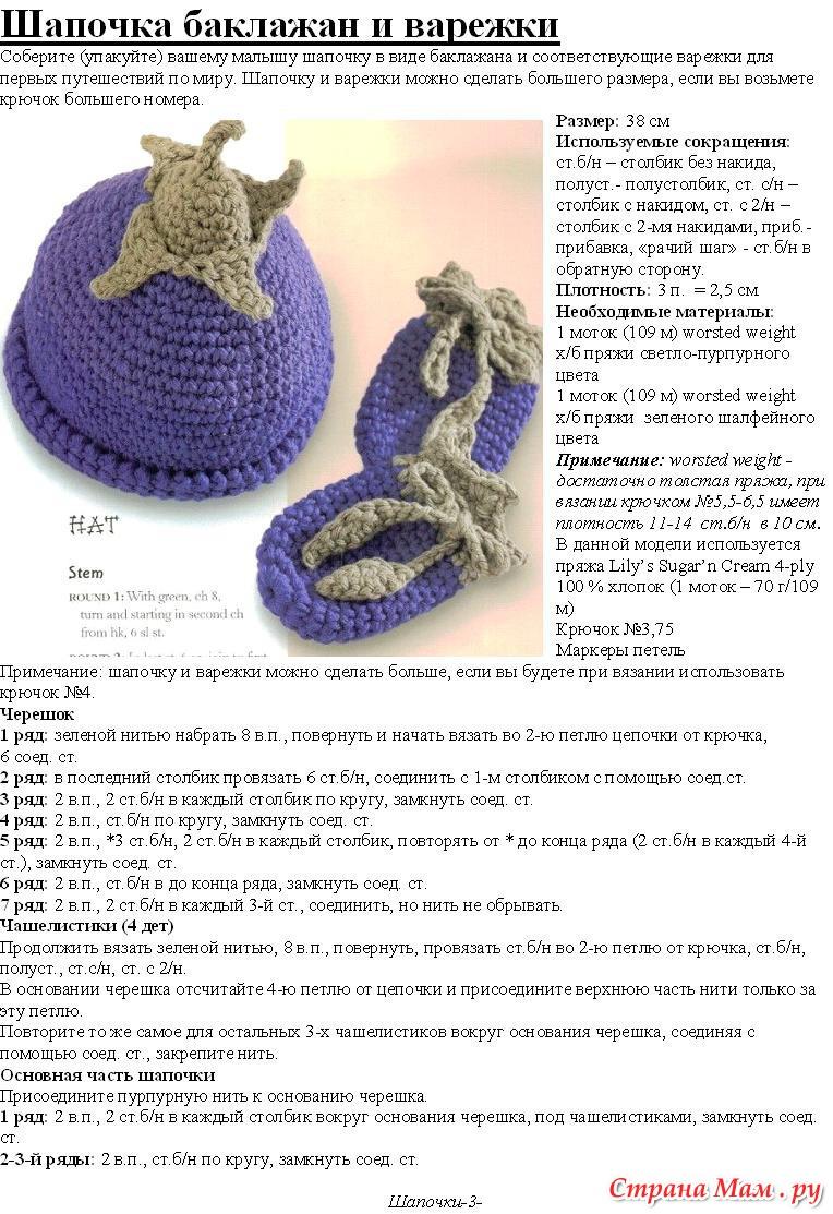 Вязанные шапки своими руками крючком
