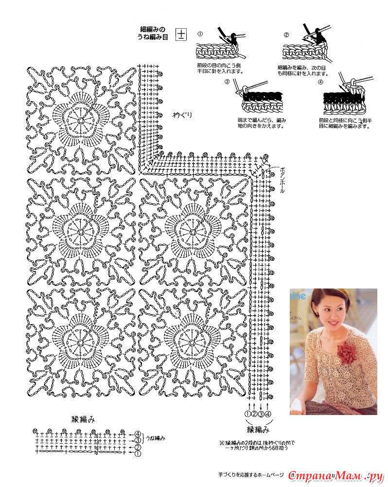 Блузки Вязанные Из Квадратных Мативов
