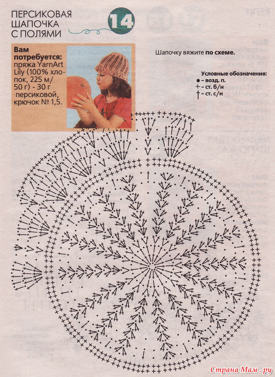 Вязание панамок крючком для детей от 0 до 3 72