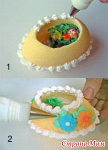 Как сделать яйца для торта 253
