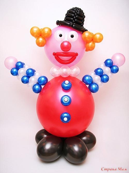 Сделать клоуна из шариков своими руками 52