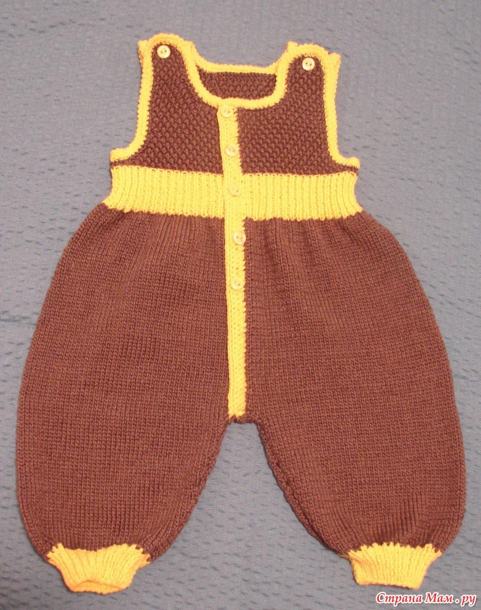 Мастер класс вязание ползунков