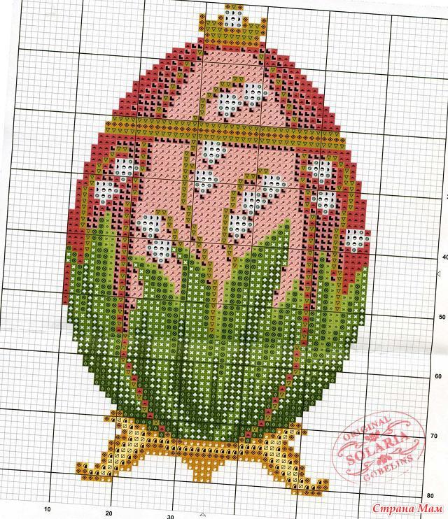 яйца Фаберже крестом или