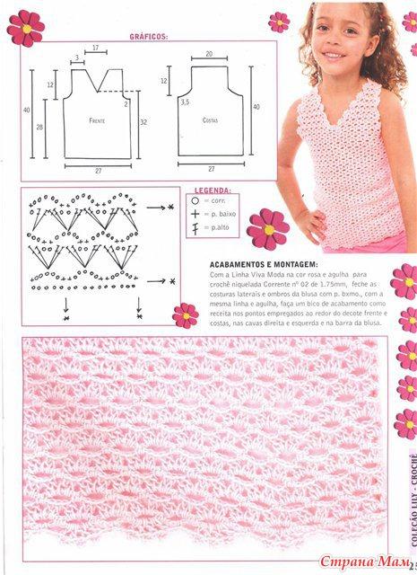 Вязание для девочек крючком со схемами фото