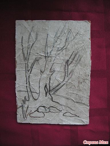Объемная картина из туалетной бумаги своими руками
