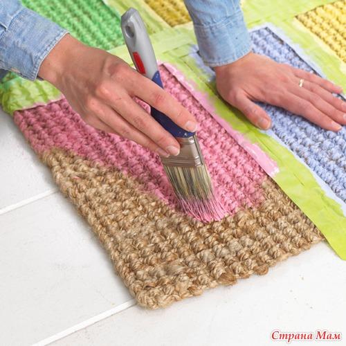 Сделать ковровую дорожку своими руками