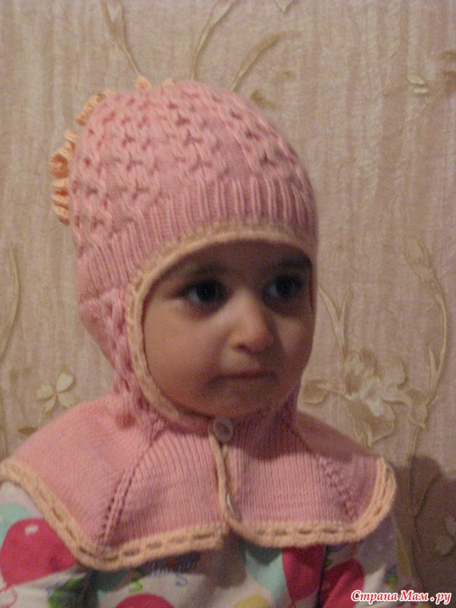 Вязание детям шапочки для девочек 688