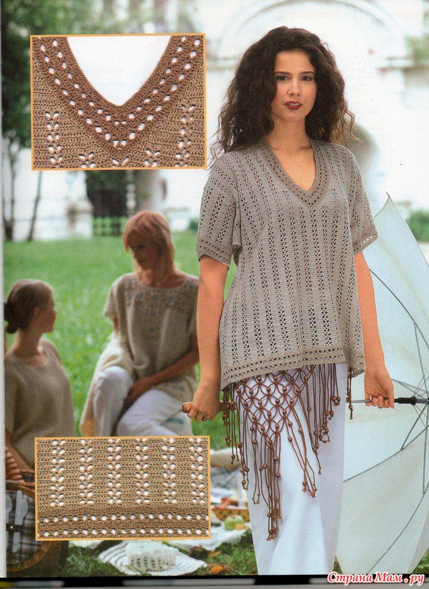 Вязание из льна для женщин 160