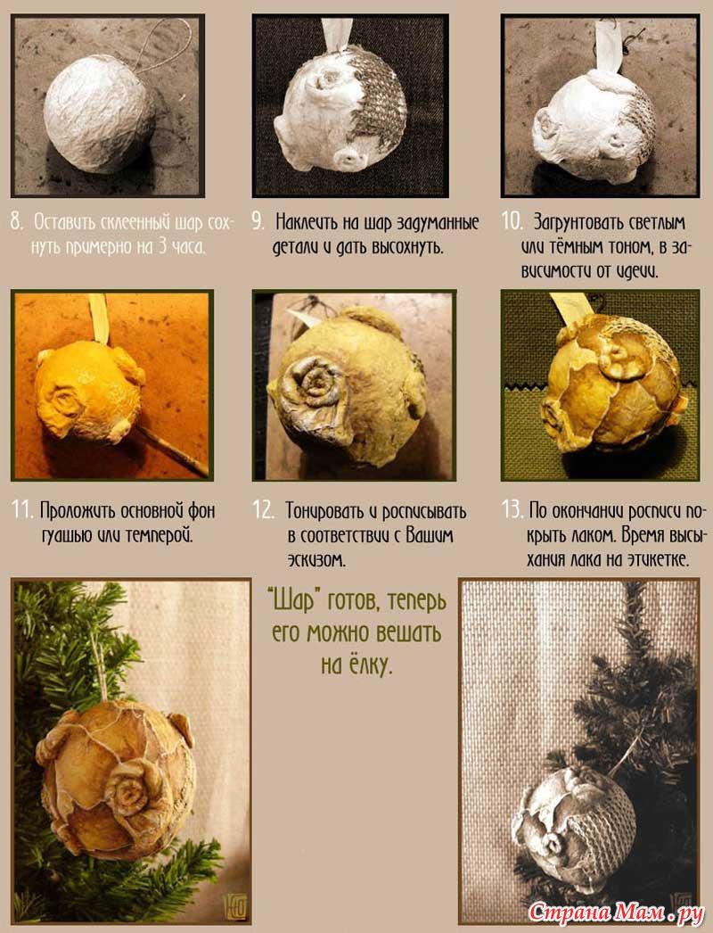 Как игрушку сделать из папье маше