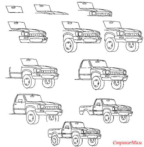 Машина. Подробная схема
