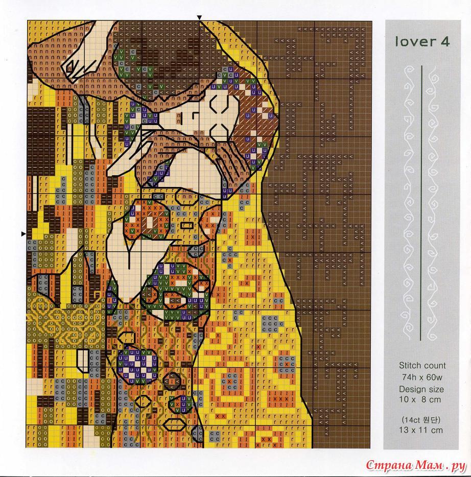 Схема вышивки по мотивам картины климта