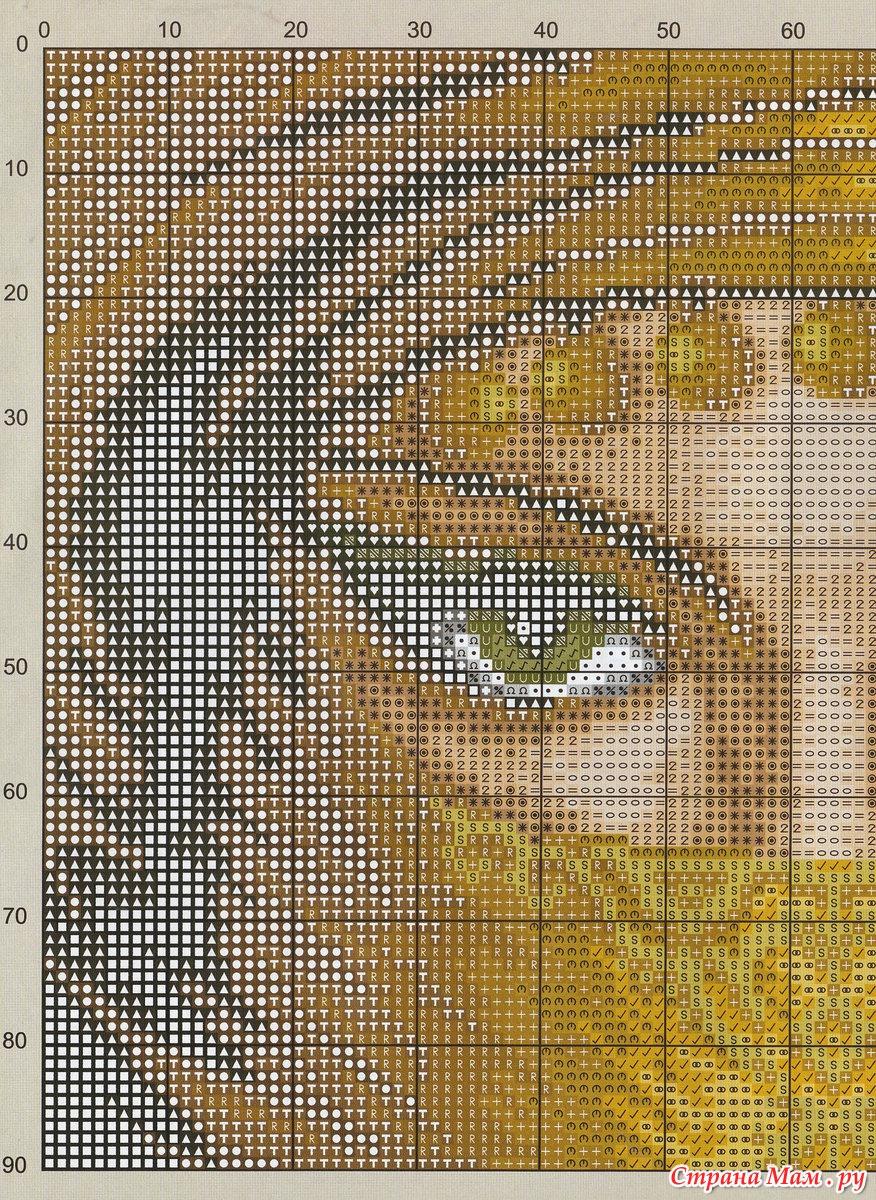 Вышивка крестиком глаз 14