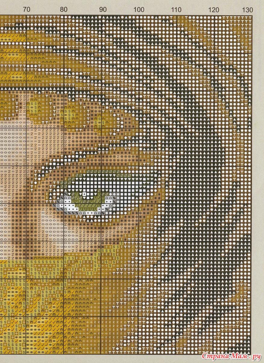 Вышивка крестиком глаз 20