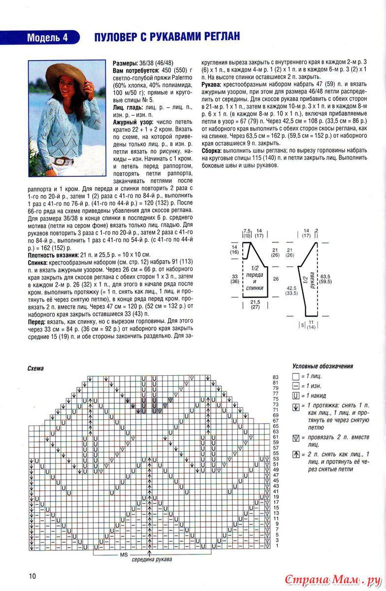 Схемы узоров вязания кофт женских с регланом 426