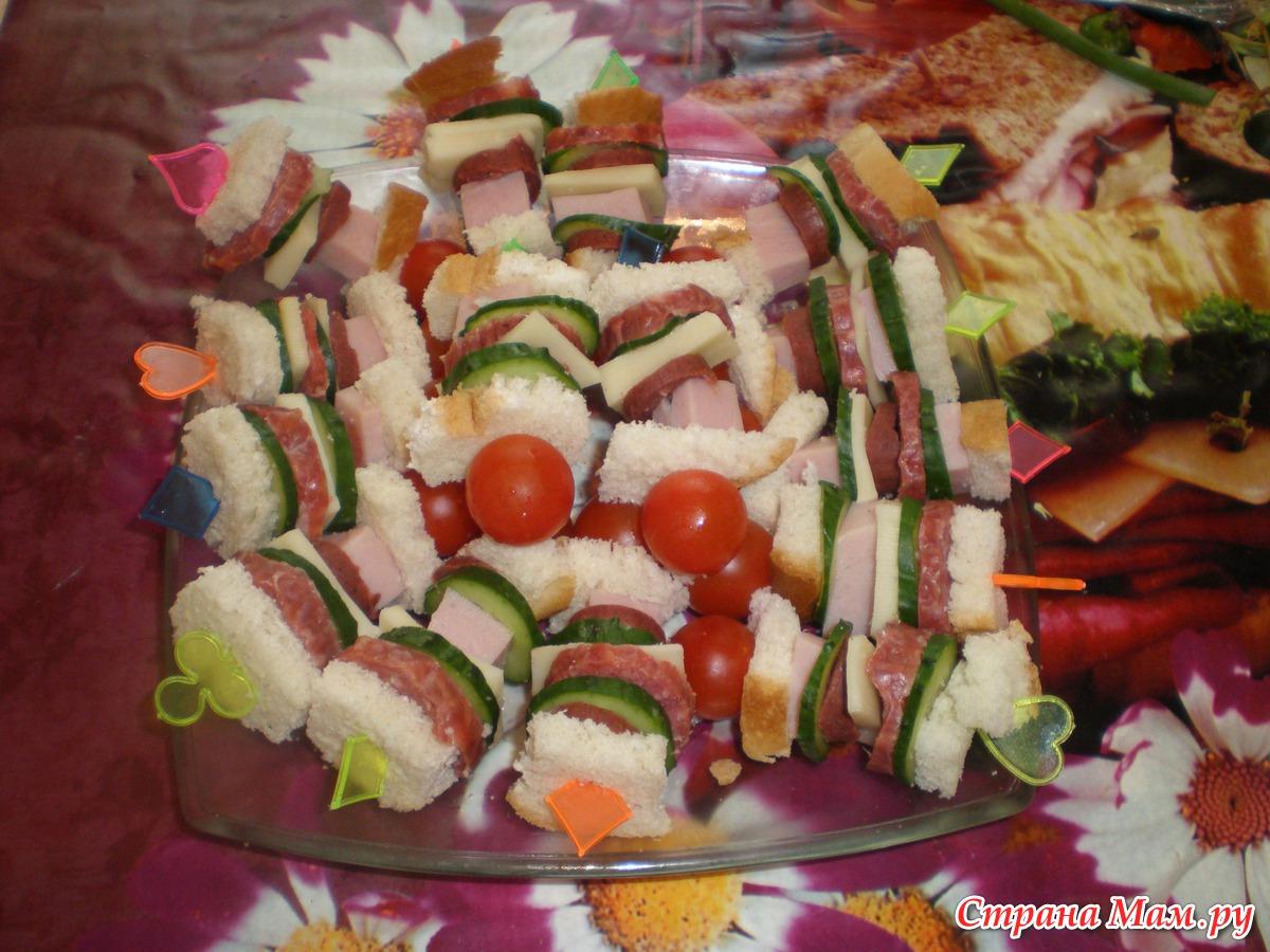 Канапе и бутерброды для детей, рецепты с фотографиями 43