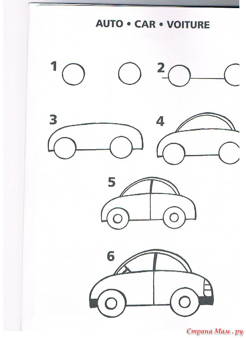 Поэтапные рисунки для детей 4 лет