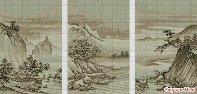 Китайский пейзаж.