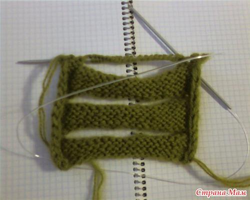 Вязание косы с дырками
