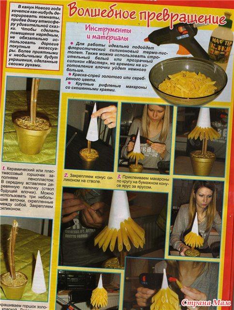 Пошаговая инструкция поделок из макарон
