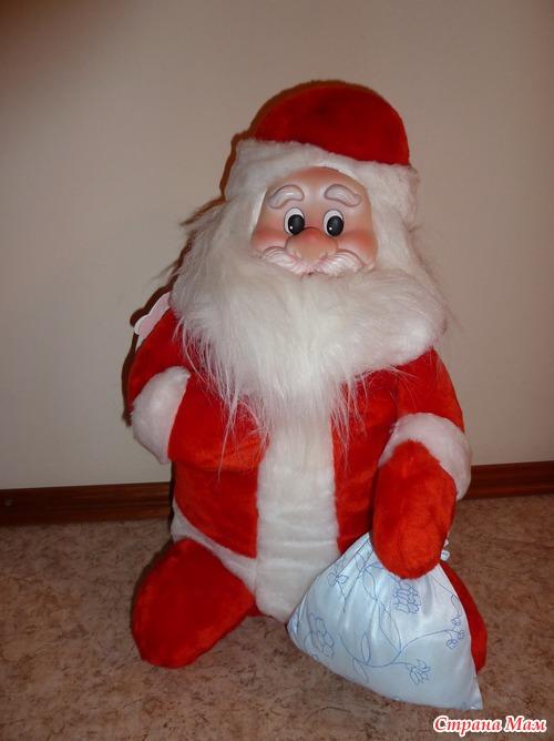 Дед мороз на ёлку своими руками