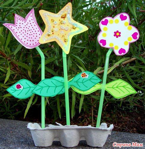 Поделки из бумаги своими руками для сада