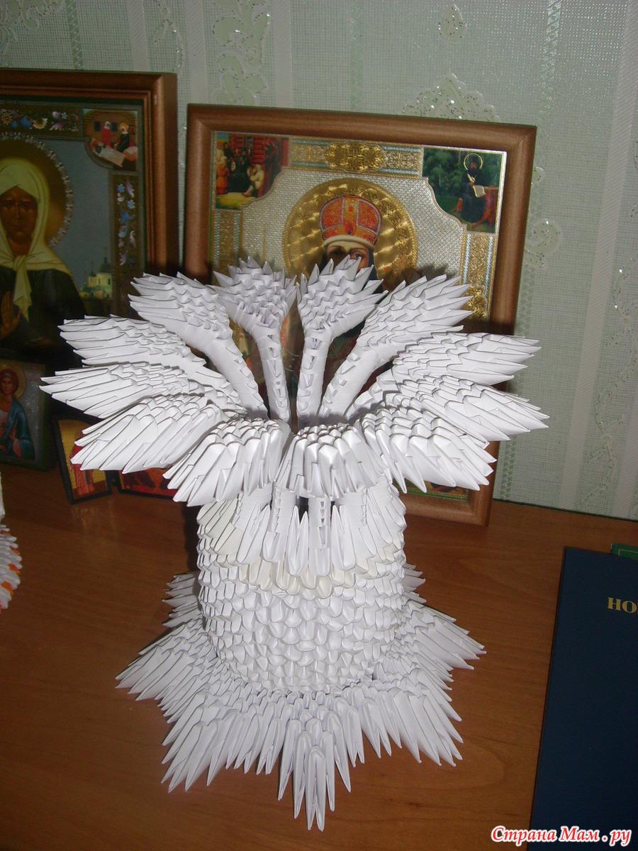 Модульное оригами ваза для начинающих пошаговое фото
