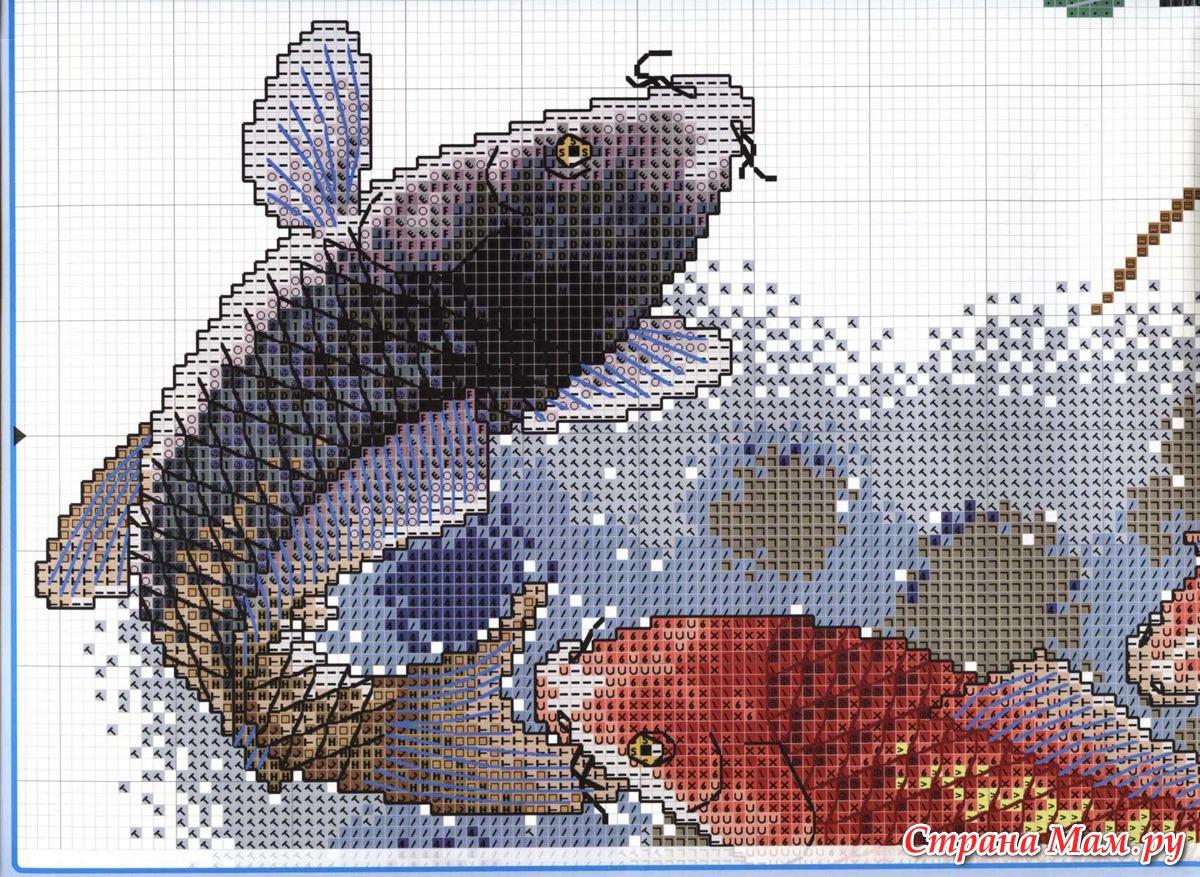 Вышивка крестом только ты-рыба 628