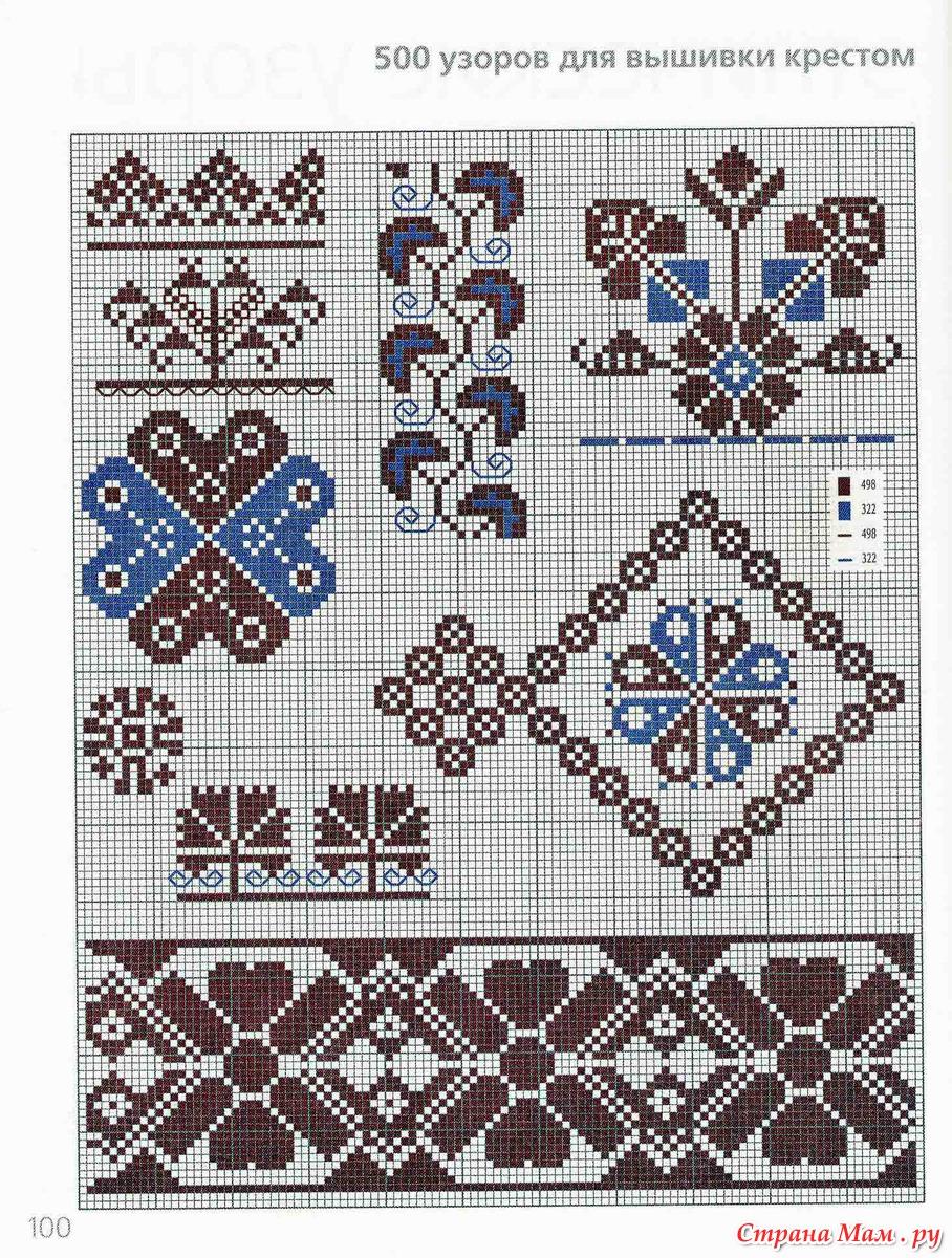 схема орнамента для вышивки крестиком