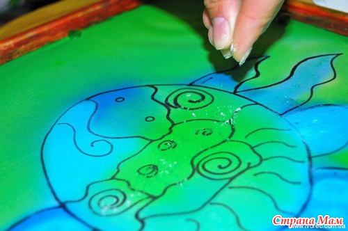 Эффекты в росписи по ткани