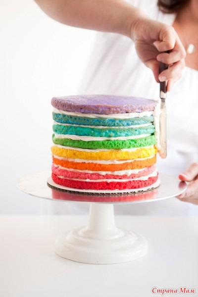 Радуга-торт для детского праздника - Страна Мам