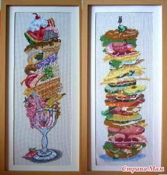 "Схема вышивки в РМ ""Бутерброд"