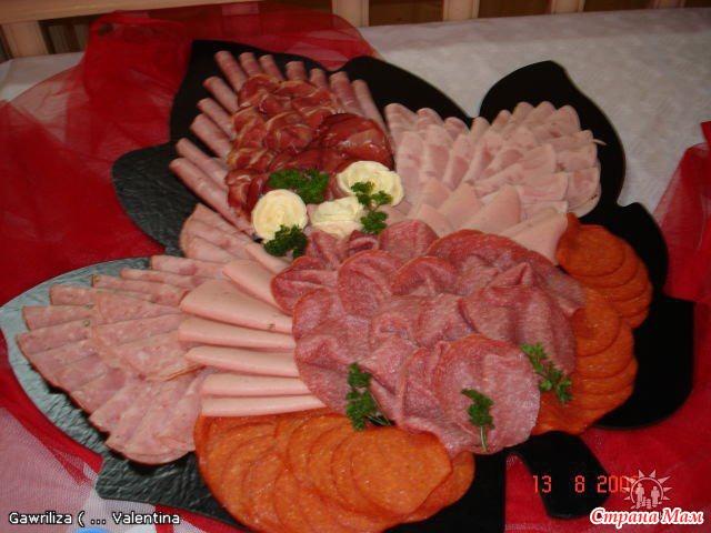 Украшение блюд на свадьбу