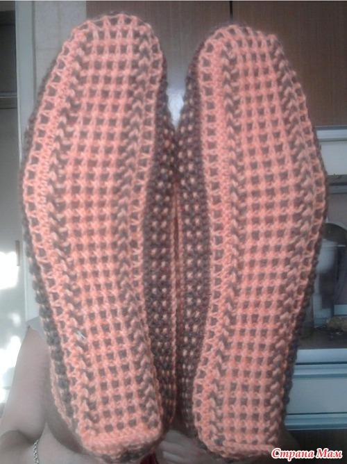 Вязание на спицах узор двумя нитками