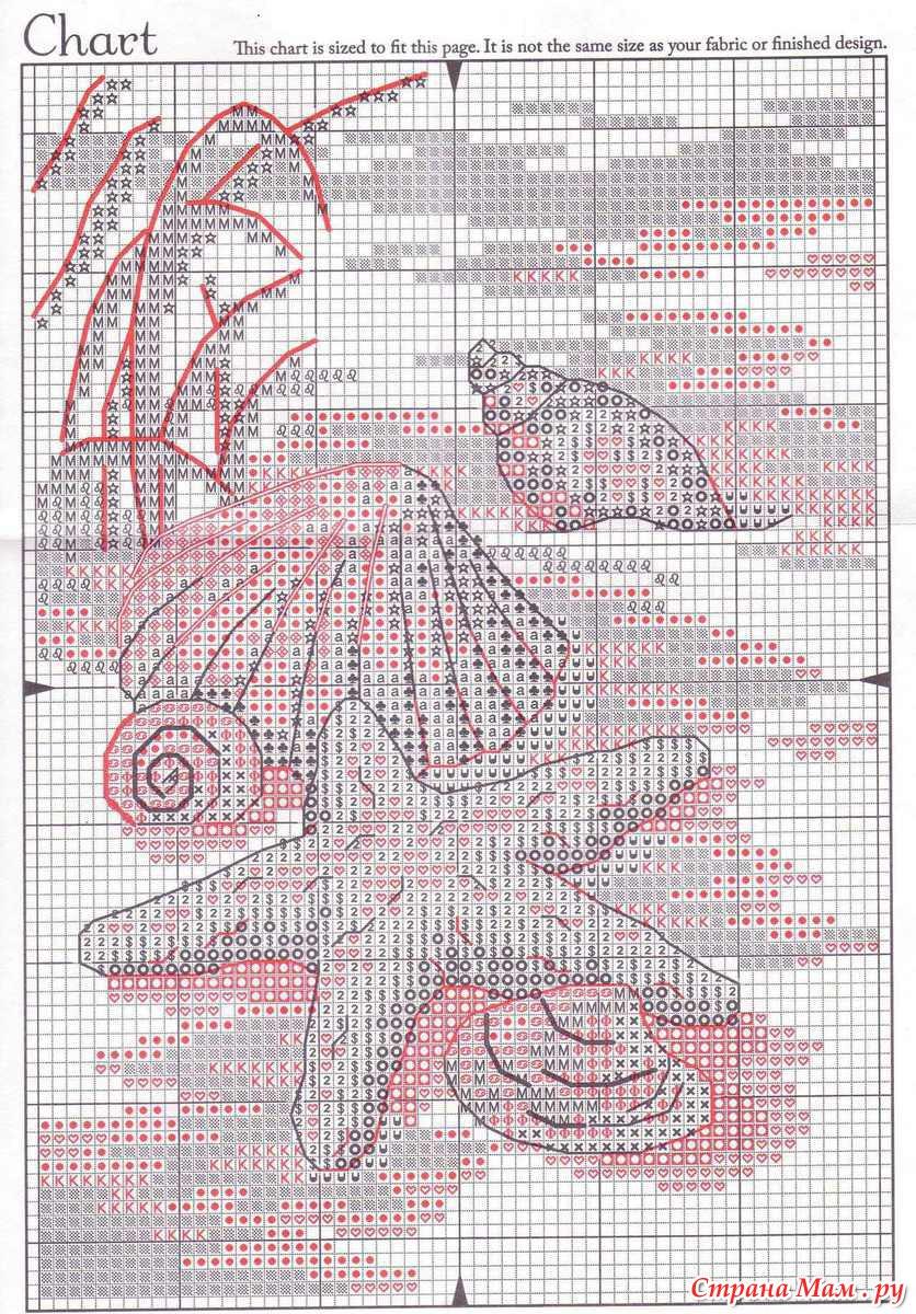 Бесплатные схемы вышивки крестом dimensions