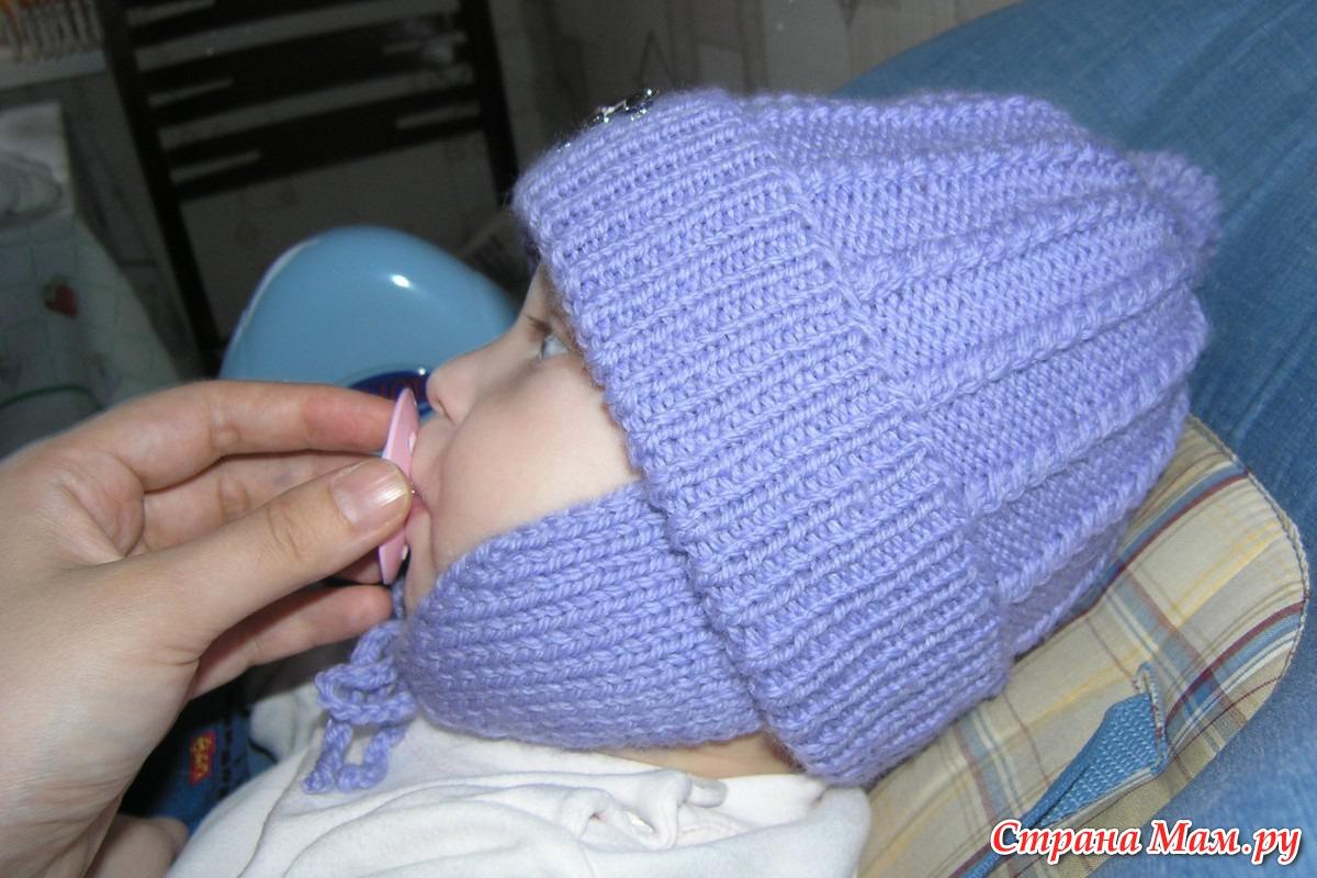 вязанная теплая шапочка мальчику схема