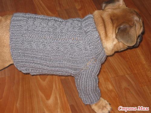 Как вязать рукав спицами собаке