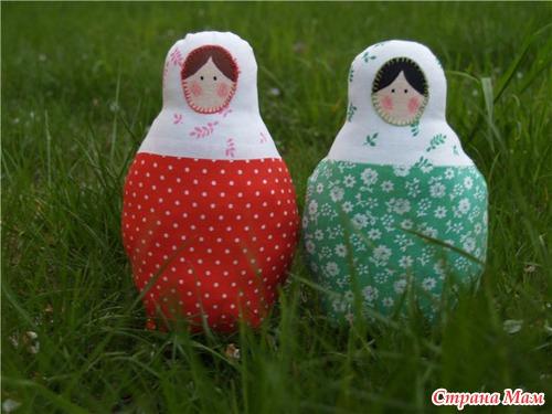 Матрёшки в саду своими руками