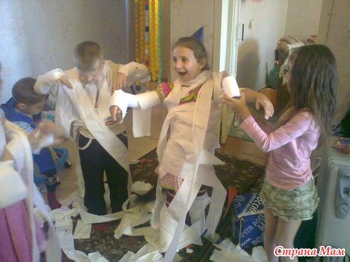 Конкурсы из туалетной бумаги