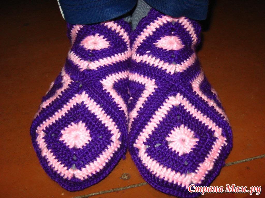 Вязание носок и тапочек 8