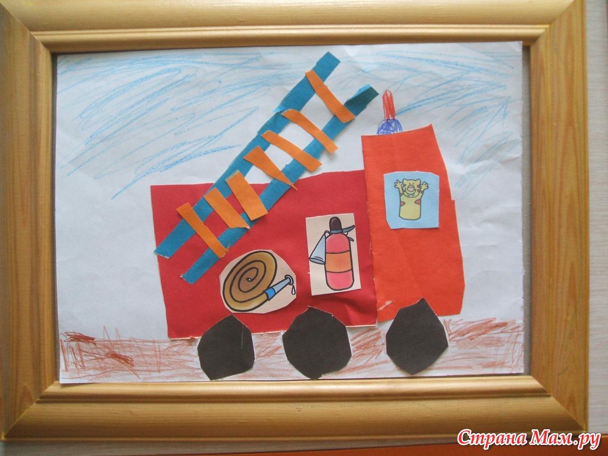Поделки в садик на тему пожарная машина