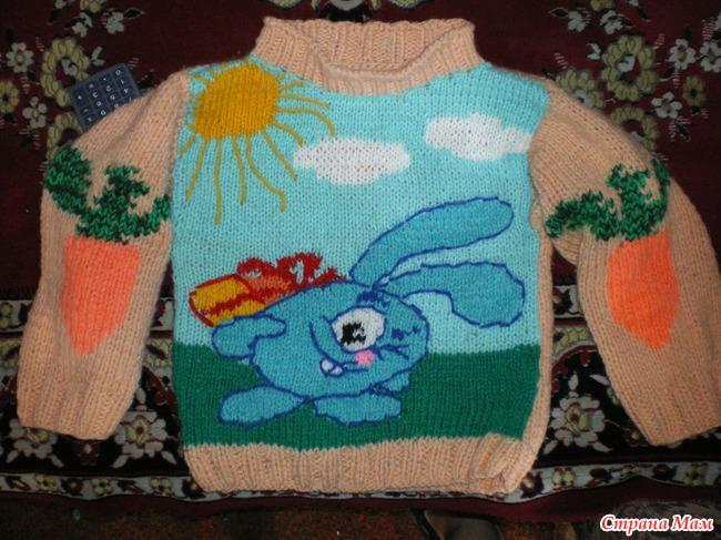 Детские схемы-рисунки для вязания спицами (подборка идей из) 22