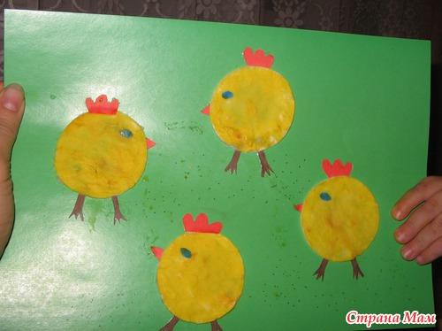 Цыпленок из дисков ватных своими руками 52