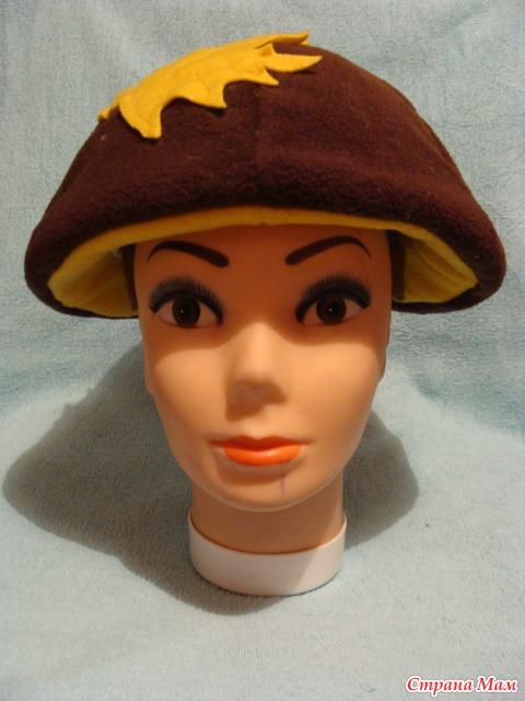Как сделать шапочку грибок для ребенка