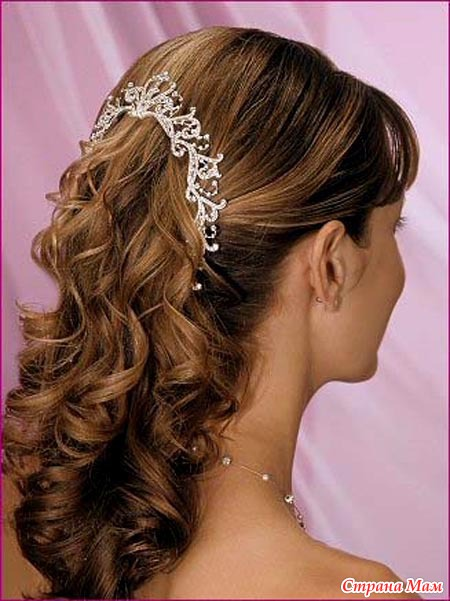 Причёска на свадьбу к друзьям