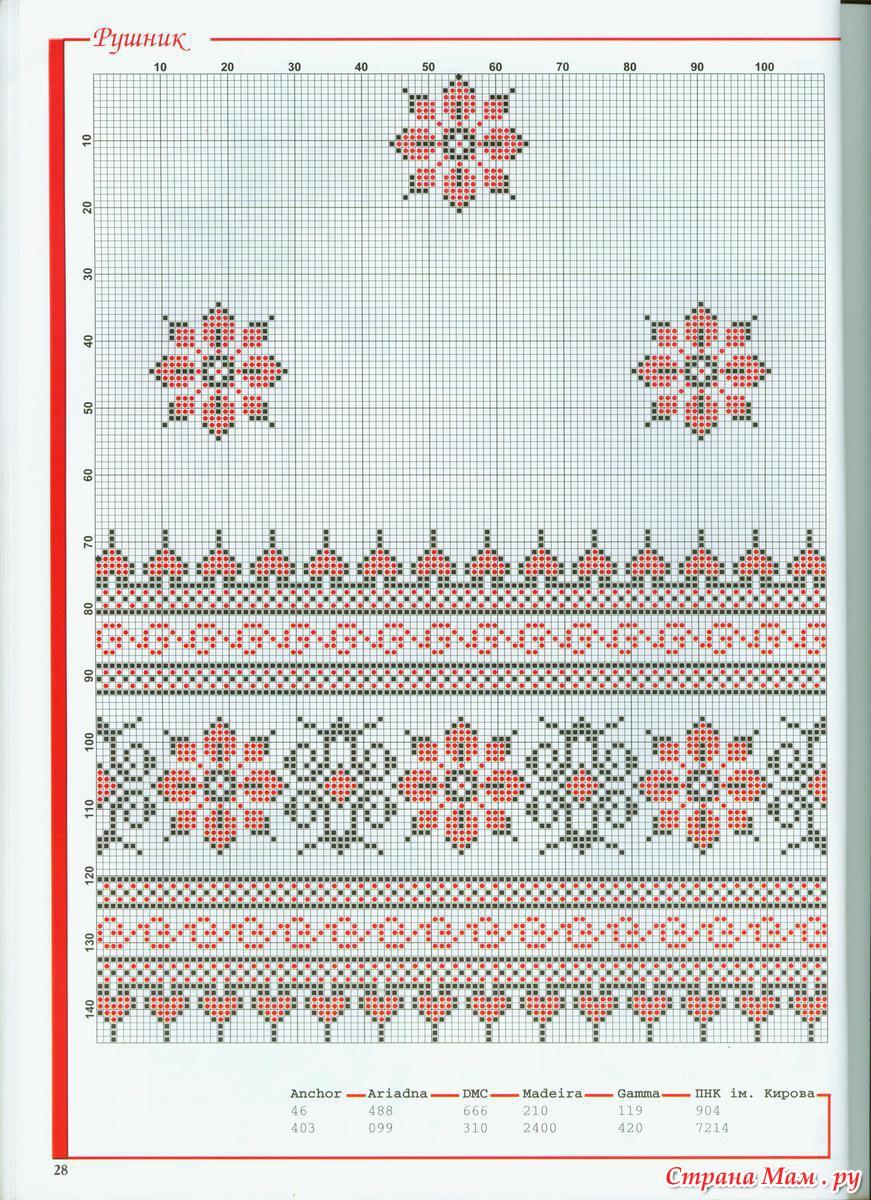 Вышивка крестик рушник