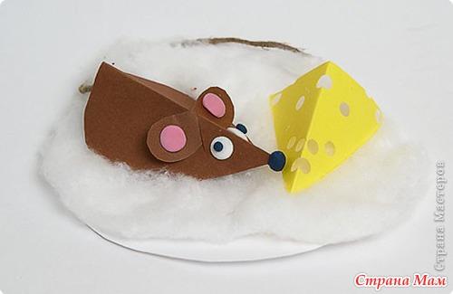 Поделки с детьми мышь