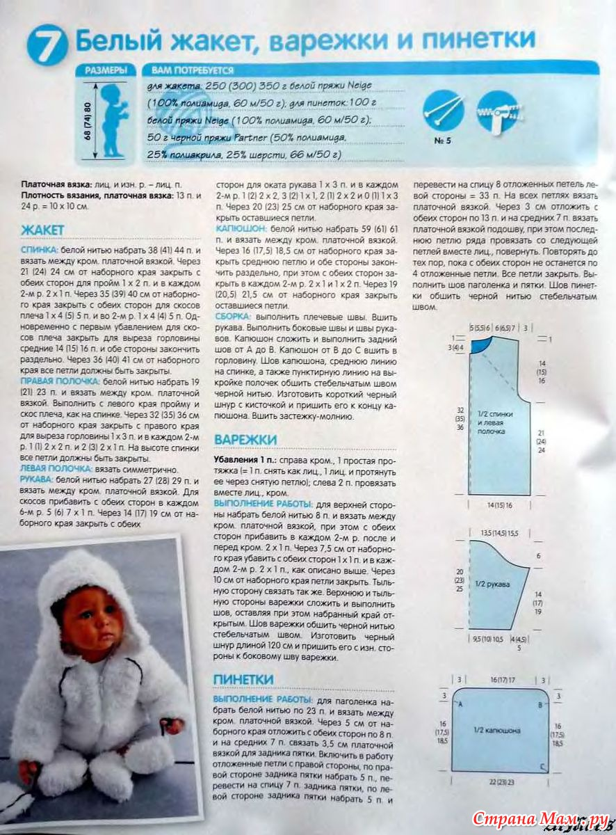 Вязаные костюмы для новорожденного мальчика спицами с описанием и схемами