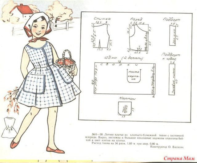 Выкройки для детских платьев к новому году